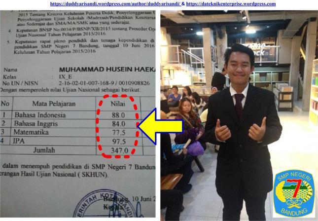 Gambar-13_Studi Kasus Putra Saya M Husein Haekal-Lulusan SMPN 7 Bandung Tahun 2016
